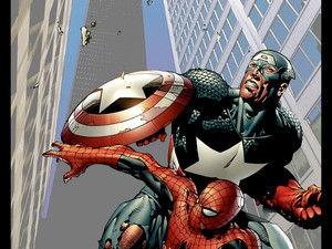 Captain America a Spider-Man