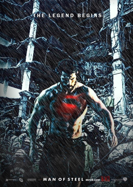 Fan made Poster - Man of Steel (Superman)